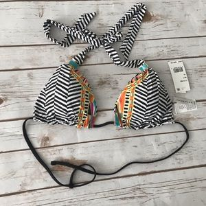 TRINA TURK Brasilia Tribal Striped Bikini Top 10